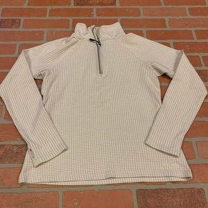 Eddie Bauer Grey Patterned Quarter Zip Pullover